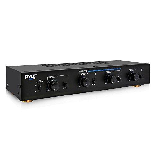 PyleHome PSPVC44-Kanal High Power Stereo-Lautsprecher Selector mit Lautstärkeregler