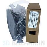 Black 1 KG PLA PREMIUM 3D Filament 1.75mm by 3D BAZAAR