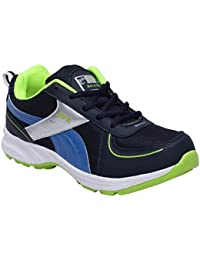 CF_Better Deals Mens Synthetic Mesh Navy Green Coloured Sports Shoe| Running Shoes| Pro Running Shoes| Sprint... - B076CPXT88