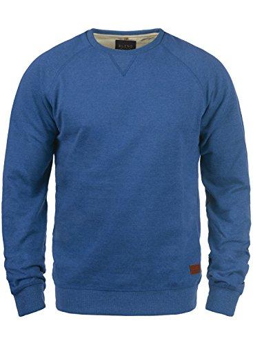 Blend Alex Herren Sweatshirt Pullover Pulli Mit Rundhalsausschnitt Und Fleece-Innenseite, Größe:XXL, Farbe:Great Blue (74651)
