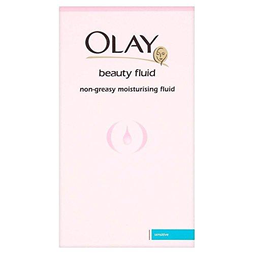 Olay Beauté Fluid-Greasy non Fluide Hydratant pour peau sensible (100ml) - Paquet de 6