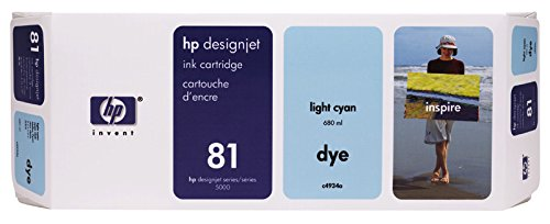 680 Ml Light (C4934A HP DNJ5000 INK LCYAN No.81 680ml light cyan Dye)