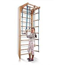 """Barras de pared con barra de altura ajustable """"Kombi-2-240"""", escalera sueca, gimnasia de los niños en casa, complejo deportivo de gimnasia"""