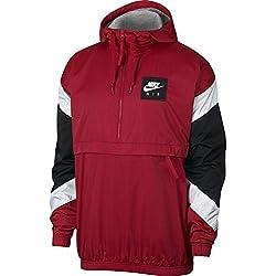 Nike M Nsw Air Chaqueta Para Hombre Color Rojo/Blanco Deportiva Talla XL