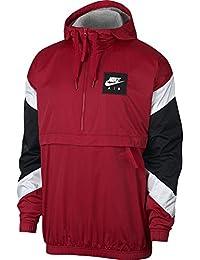 Nike M NSW Air Jkt HD Wvn Chaqueta, Hombre, Rojo/Blanco (Gym