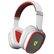 Ferrari by Logic3 Scuderia R300 - Auriculares (Binaurale, Color blanco, Diadema, Alámbrico