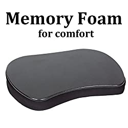 NEW RELEASE Sofia+Sam Mini Memory Foam Lap Desk (Black) | Fits 13 inch Laptops with Room to Spare | Compact and Lightweight Lapdesk | Weighs only 2.5 Pounds
