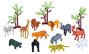 Wild Republic- Juego de Caza Fauna Africana, pequeño, Cubo de Aventura Mini, 10 cm, 15 Piezas, (23150)