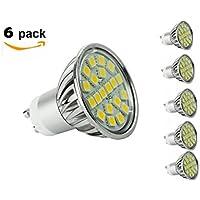 CY LED 4W MR16 GU10 LED, 50W alogene lampadine equivalenti, 300LM, bianco caldo, 3000K, 120¡ãBeam (Illuminazione Della Pista)