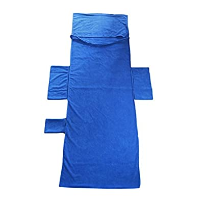 Hongyans Schonbezug für Gartenliege Liegestuhlauflage Strandtuch für Liegestuhl/Sport Handtuch für Sonnenliege/Lounge Mate/Liegestuhl Bezug mit Seitentasche 215 * 75cm (blau) (blau) von Hongyans - Gartenmöbel von Du und Dein Garten