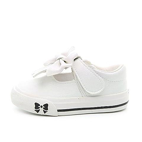 ALUK- Chaussures enfants - chaussures bébé chaussures souples en cuir souple ( Couleur : Blanc , taille : 25-foot length 16.5cm )