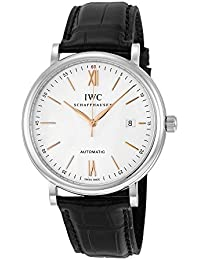 IWC MEN'S 40MM ALLIGATOR LEATHER BAND STEEL CASE AUTOMATIC WATCH IW356517