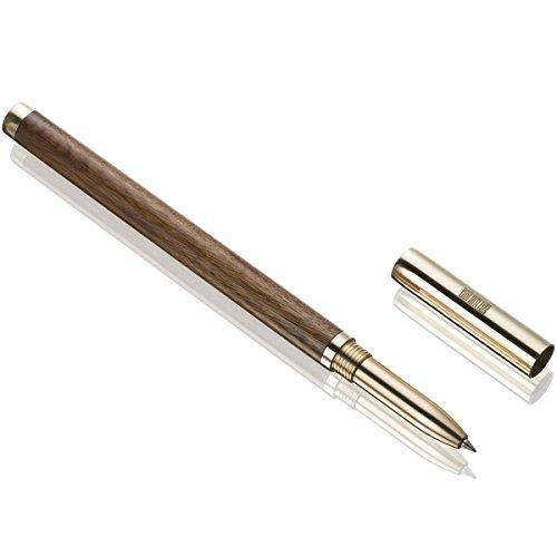 Elegante penna a sfera artigianale, di ottima qualità, con confezione regalo per uomini, penne a sfera da ufficio, per gli affari brown