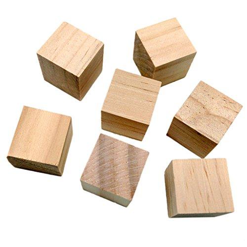 MagiDeal 20Pcs Holz Basteln Holzwürfel Spielsteine Bastelmaterial Holz Quadrat Würfel 20mm