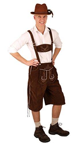 ostüm Lederhose Herren Anton Bayer Bayern-hose Trachten-hose Oktoberfest Tirol Herrenkostüm 54 (Billige Halloween-kostüme Für Babys)