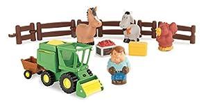 Tomy Farm - Conjunto cosechadora Divertida, con Granjero y animalitos (Bizak 30693069)