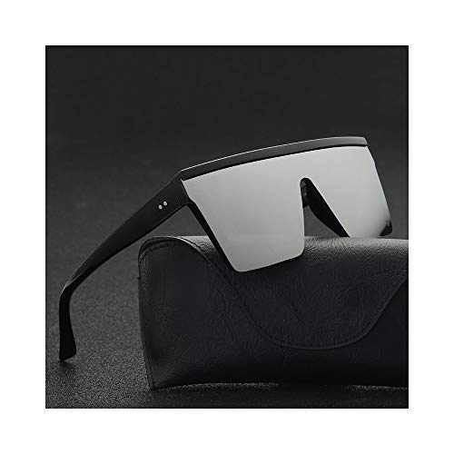 BAWANGLONG Herren Flat Top Sonnenbrille Herren Marke Black Square Shades UV400 Gradient Sonnenbrille für Herren Cool