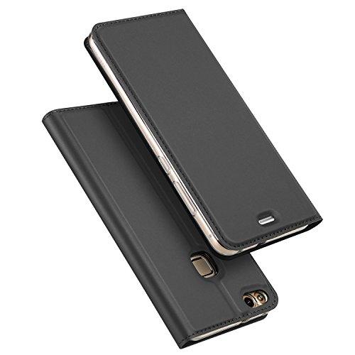 DUX DUCIS Huawei P10 Lite Hülle, Skin Pro Series Ultra Slim Layered Dandy, Ständer, Magnetverschluss,TPU Bumper, Full Body Schutz für Huawei P10 Lite (Gray)