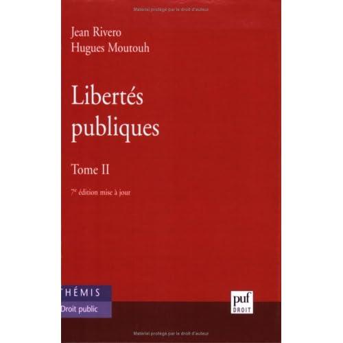 Libertés publiques, tome 2
