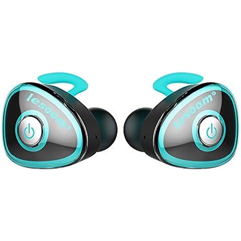 Realmente Auriculares inalámbricos, lesoom Mini Twins True Wireless Bluetooth Deporte Auriculares estéreo Auriculares cancelación de ruido con micrófono estación de carga para Samsung, iPhone, Sony Apple iPad Android IOS