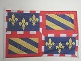 PAVILLON NAUTIQUE BOURGOGNE 45x30cm - DRAPEAU DE BATEAU BOURGUIGNON - FRANCE 30 x 45 cm - AZ FLAG