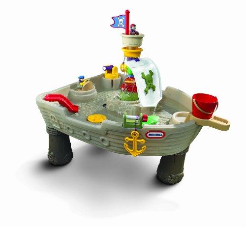 Little Tikes - 615924 - Jeu de Plein Air - Table d'activités - Jeux d'eau - Bateau Pirate