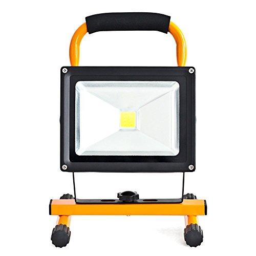 MCTECH® 30W Gelb Tragbare Wiederaufladbare Handlampe LED Flutlicht-Lampe Camping Lampe Arbeitsscheinwerfer Angeln Beleuchtung Laterne Campinglaterne Werkstatt-Flutlicht IP65 (30W Kaltweiß Gelb)