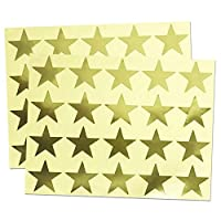 4cm Metallic Foil Star Stickers - 25 Sheets, Pack of 500