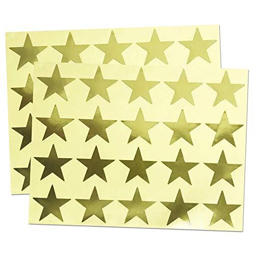 4cm Brillante Estrella Oro Pegatinas Adhesivo Doradas