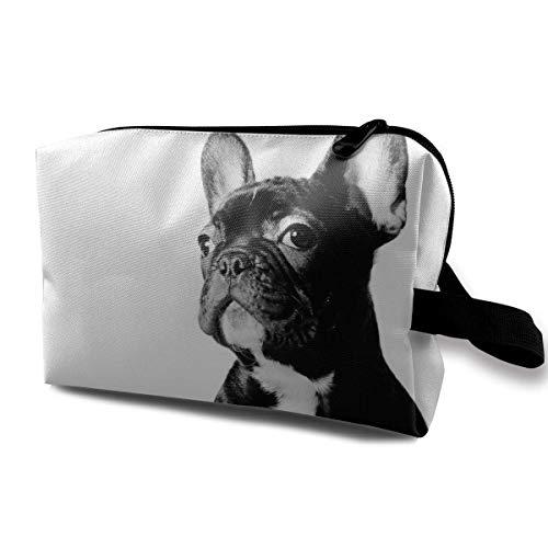 Con Wristlet Bolsas cosméticos Bulldog francés Viajes