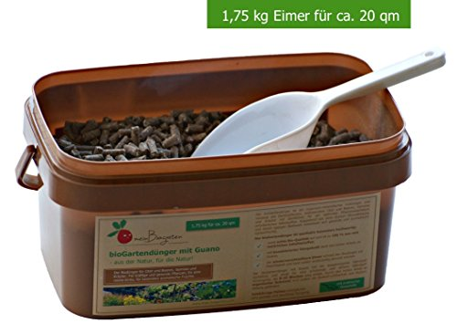 BIO-Dünger mit Guano einsetzbar als Gemüse-Dünger, Kräuter-Dünger und Obst-Dünger sorgt der Pflanzen-Dünger für ein langzeitiges Wachstum (N-P-K 8:4:6) - Größen: 0,6, 1,75 und 4 kg (Gemüse Bio-obst Und)