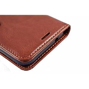 Casetegoo Vivo X21 Premium Wallet Leather Stand Case Flip Cover - Executive Brown