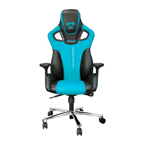 Affordable E-Blue Cobra Gaming Chair PU Leather Office Ergonomic Computer eSports Desk Executive EEC303BL Blue