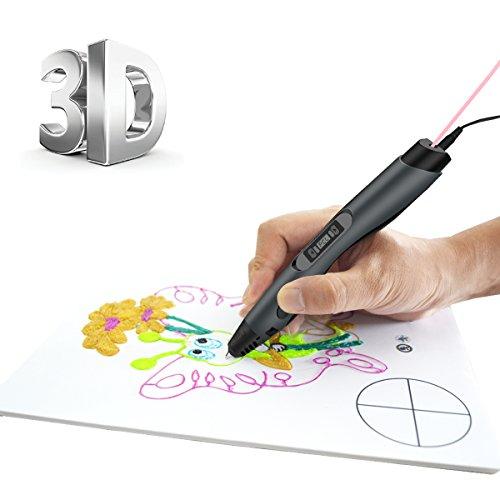 3D Stift Intelligente 3D Druckerstift für Doodle-Gekritzel, 3D Pen 3D Stift Set mit LCD Display & PCL-Filamente für Kunst, Zeichnungen, Gekritzel ,Geschenke und Spielzeug für Kinder Erwachsene