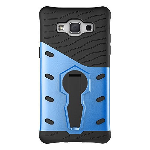 Für Samsung Galaxy A5 2015 Case Tough Hybrid Heavy Duty Schock Proof Defender Cover Dual Layer Armor Combo Mit 360 ° Swivel Stand Schutzhülle Fall ( Color : Blue ) Blue