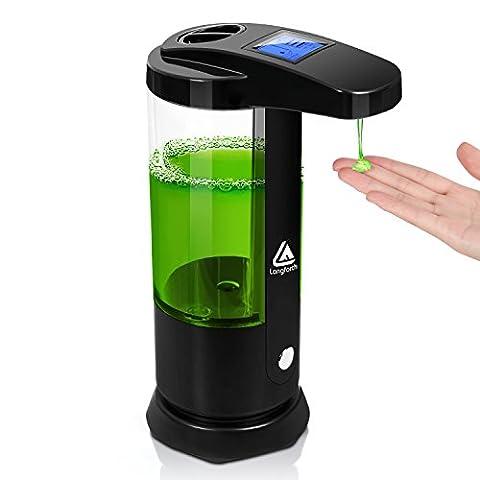 Lifewit Automatischer Seifenspender mit LED Dispaly Seifendosierer No Touch Flüssigseifenspender Infrarot Sensor für Küche und Bad 250ML