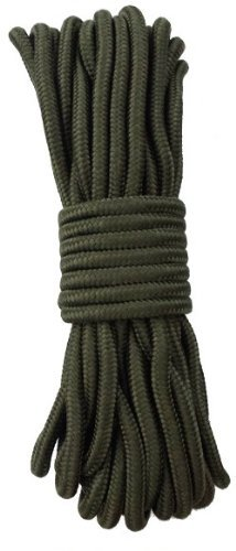 15 m Outdoor - Bundeswehr - Allzweck Reepschnur Tau Seil 5mm / 7mm / 9mm - für Survival, Bootsport, Sport, Camping, Segeln, Angeln, Fischen, Wandern - Original Inet-Trades GmbH Produkt (olivgrün, 9 mm)