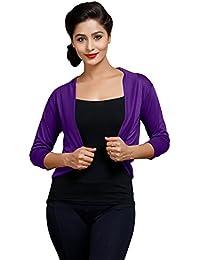 Goodtry Women's Shrug-Purple