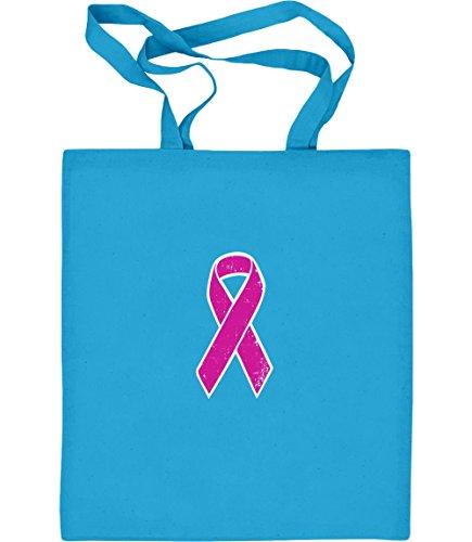 Green Turtle T-Shirts Pink Ribbon - Geschenk im Zeichen der Solidarität Jutebeutel Baumwolltasche One Size Hellblau