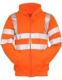 Fast Fashion - Une Grande Visibilité Hi Vis Des Sûreté D' Hooded Sweatshirt Haut - Hommes