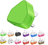 Themax® 1000mAh USB UK Plug Charger Adapter By CE Approved Compatible iPhone iPad Samsung Galaxy HTC LG Sony Huawei Motorolla BlackBerry Lenova OnePlus Lava Kindle Etc (Green)