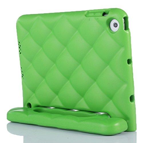 Copertine Tablet, EVA netto paraurti stile Custodia protettiva portatile con maniglia e il supporto per iPad Mini 1/2/3 ( Colore : Verde )