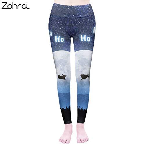 MAOYYMYJK Moda Mujer Cintura Alta sobre la Luna Leggins Punk Elasticidad Leggings Workou Legins Slim Fitness Pants