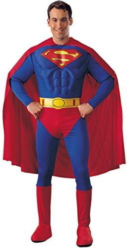 KULTFAKTOR GmbH Superman Kostüm Superheld Lizenzware blau-rot L