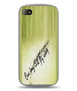 FUSON Designer Back Case Cover for BlackBerry Q10 (Good Idea Great quote Success Quote)