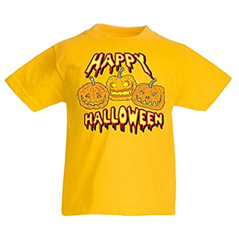 T-shirt pour enfants Happy Halloween! Party Outfits & Costume - Gift Idea (12-13 years Jaune Multicolore)