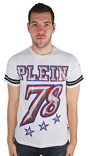 Philipp plein cameo mtk0206 01 maglietta bianco white uomo