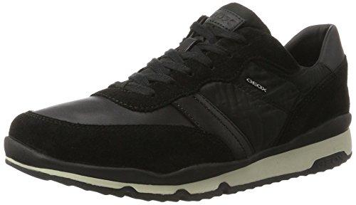 Geox Herren U Sandford B Sneaker Schwarz (Black)