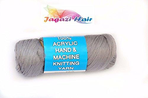 Brazilian Wool hair: Faux Locks, Braids, Twists, Knitting Brazil Wool. Yarn/Brazilian Wool Haar: Faux Locks, Zöpfe, Twists, Stricken Brasilien Wolle. Garn (Grey) (Garn Twist Zöpfe)
