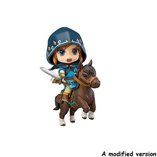 Xiaoping The Legend of Zelda Nendoroid Link Zelda Figure Breath of The Wild Ver DX Edition Deluxe Version Figura de acción